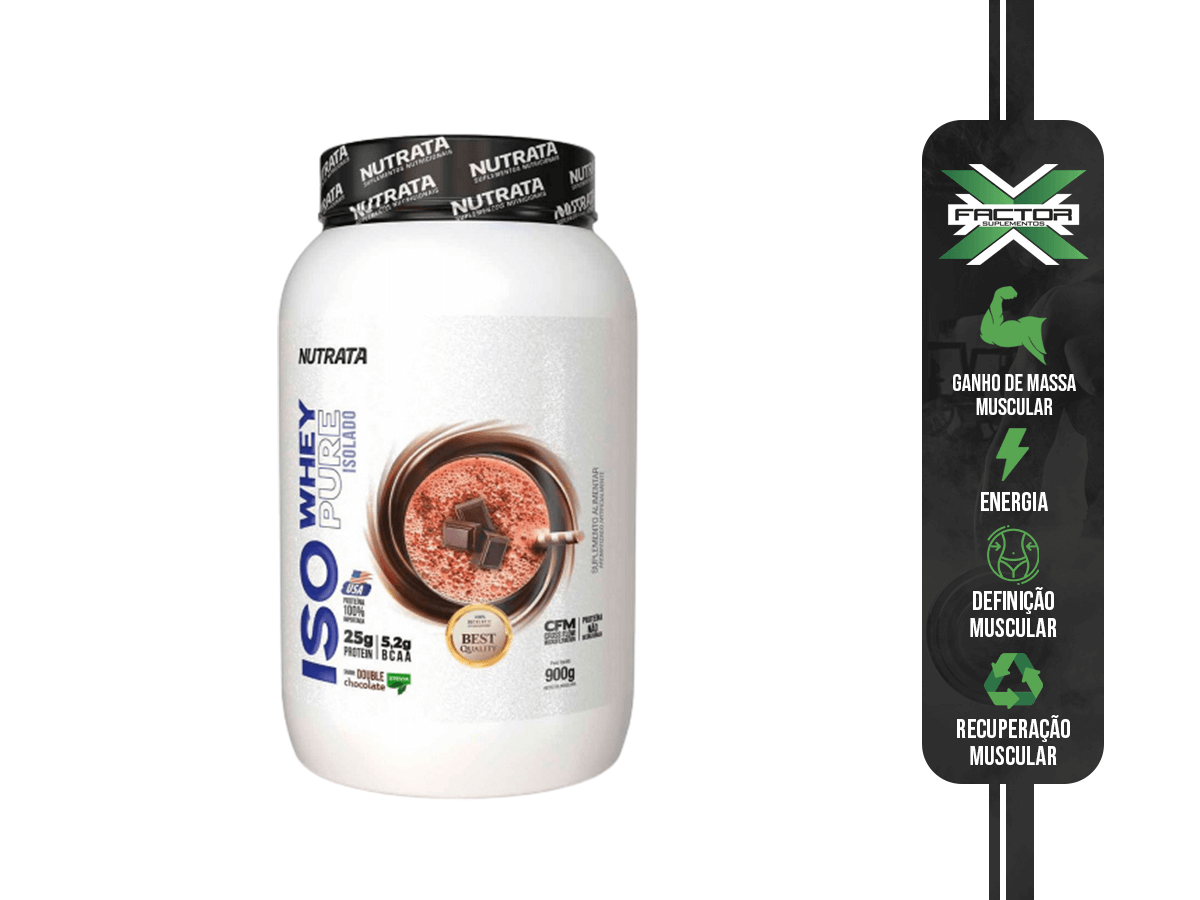 ISO WHEY PURE 900G - NUTRATA