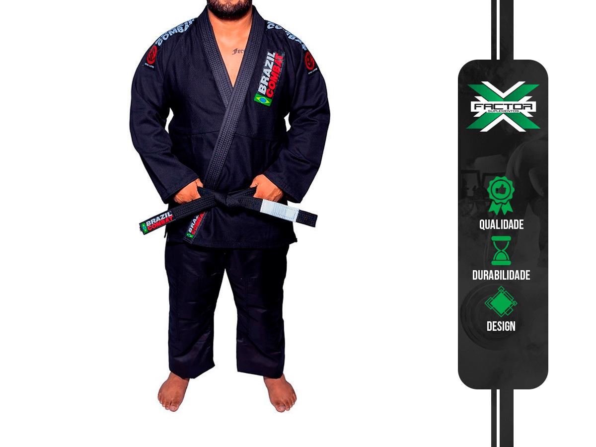 KIMONO COMPETIDOR XTRA-LITE PRETO BRAZIL COMBAT
