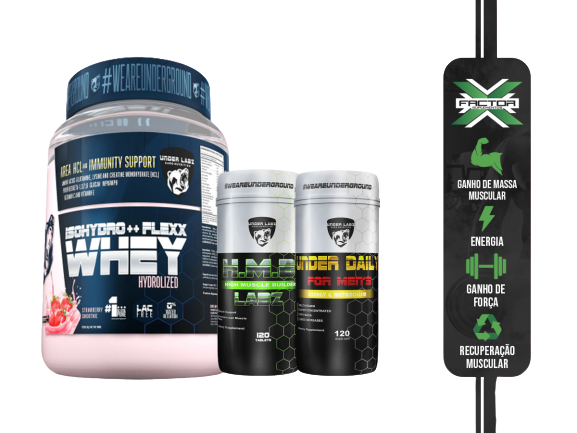 KIT UNDER LABZ WHEY ISOHIDRO + HMB + MULTIVITAMINICO