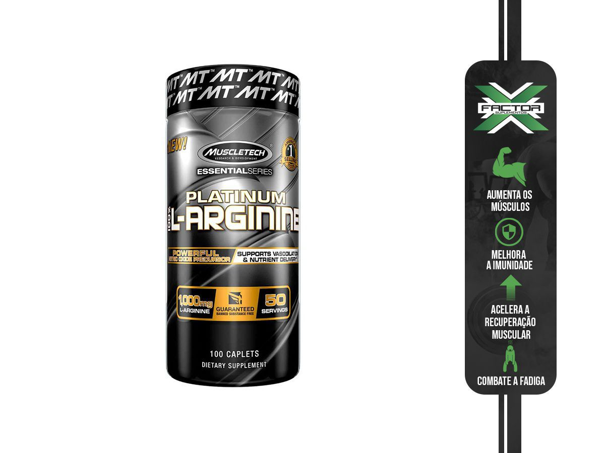 L-ARGININA MUSCLE TECH 100TABS