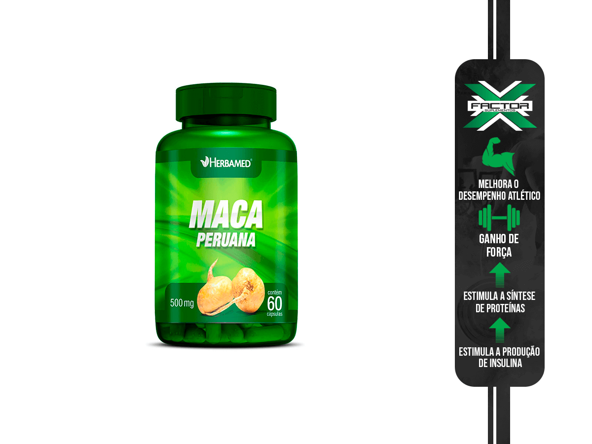 MACA PERUANA 60CAPS 500MG HERBAMED
