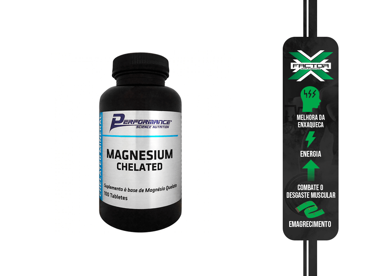 MAGNESIUM CHELATED 100TABS PERFORMANCE