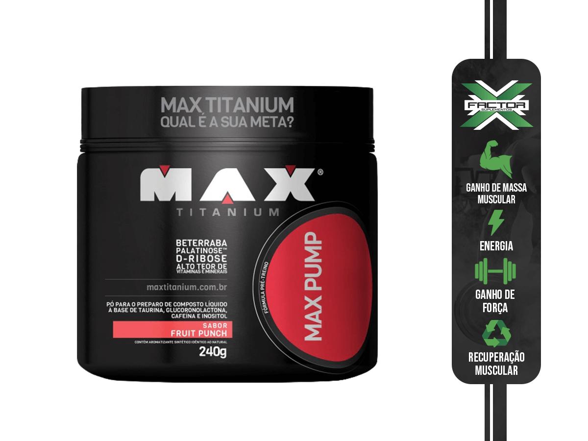 MAX PUMP 240GR - MAX TITANIUM