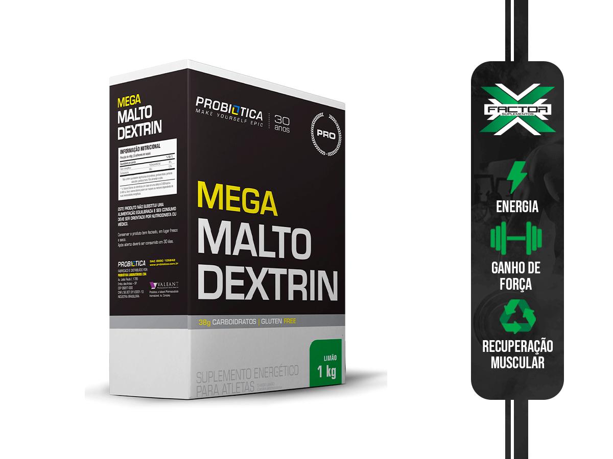 MEGA MALTO DEXTRIN CAIXA 1KG - PROBIOTICA
