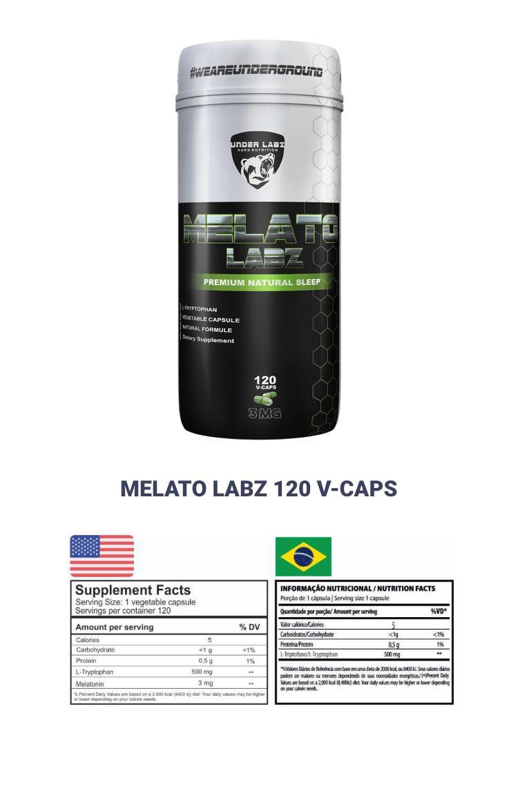 MELATO LABZ 120 CAPSULAS - UNDER LABZ