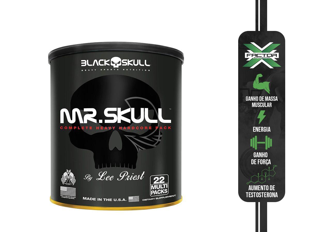 MR. SKULL (22PACKS) - BLACK SKULL