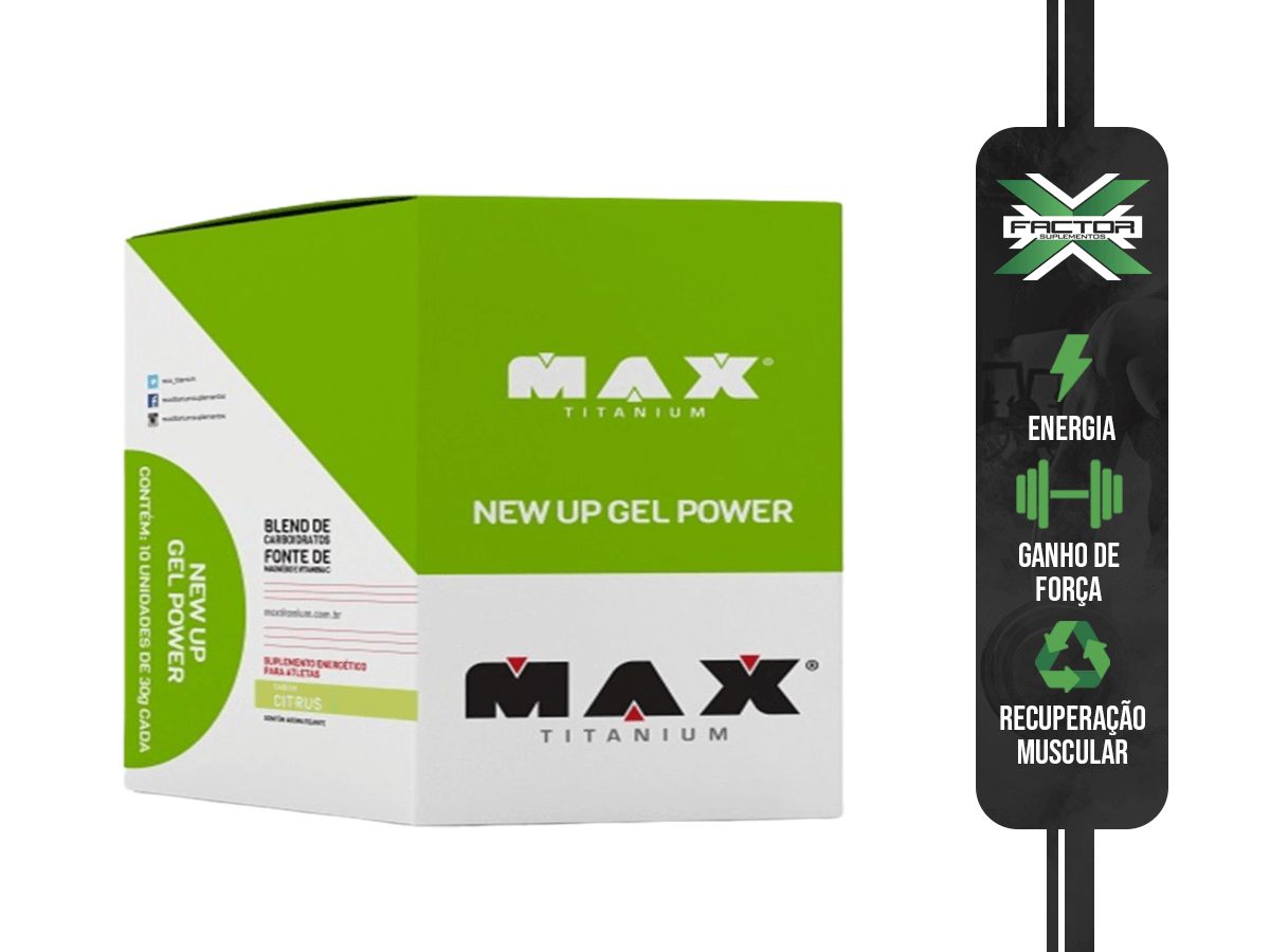 NEW UP GEL POWER (DISPLAY COM 10 UN) - MAX TITANIUM