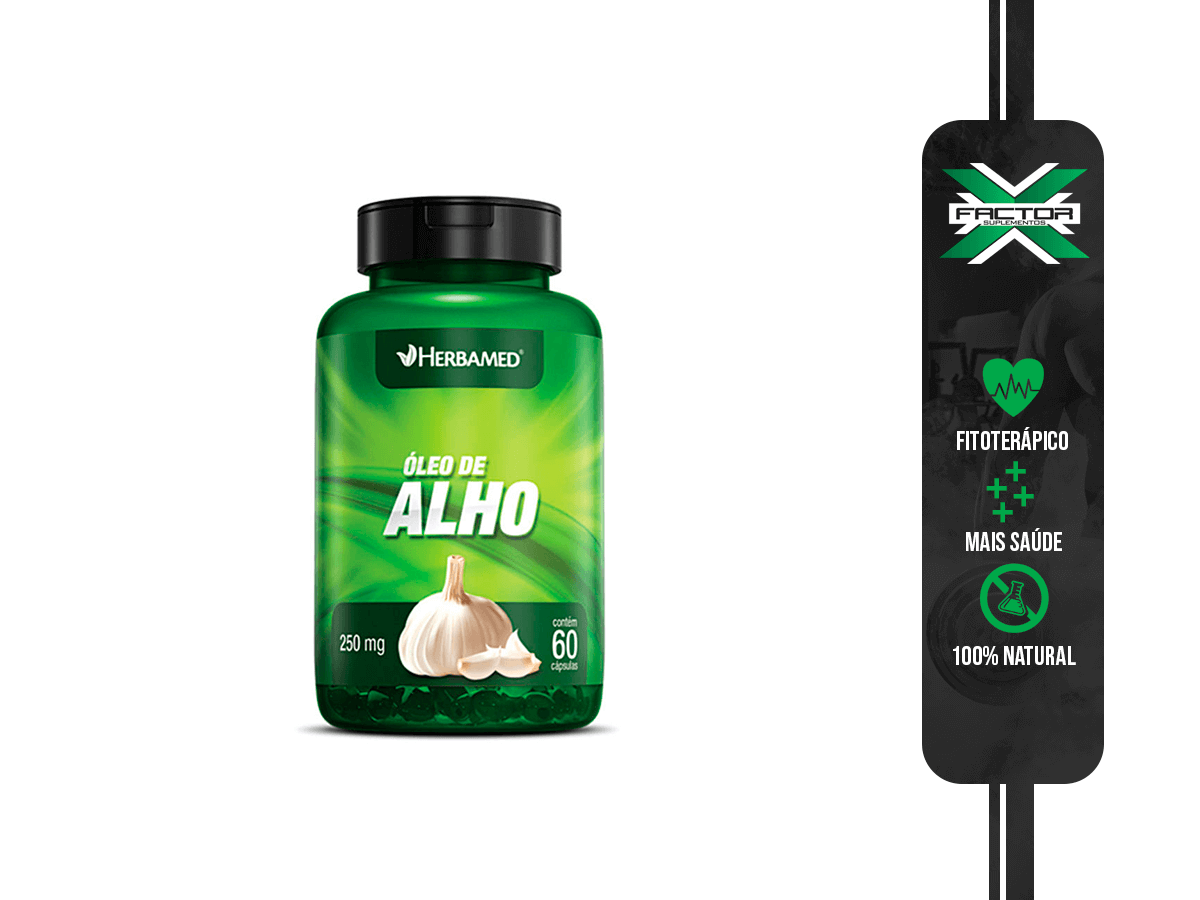 OLEO DE ALHO 60CAPS 250MG HERBAMED