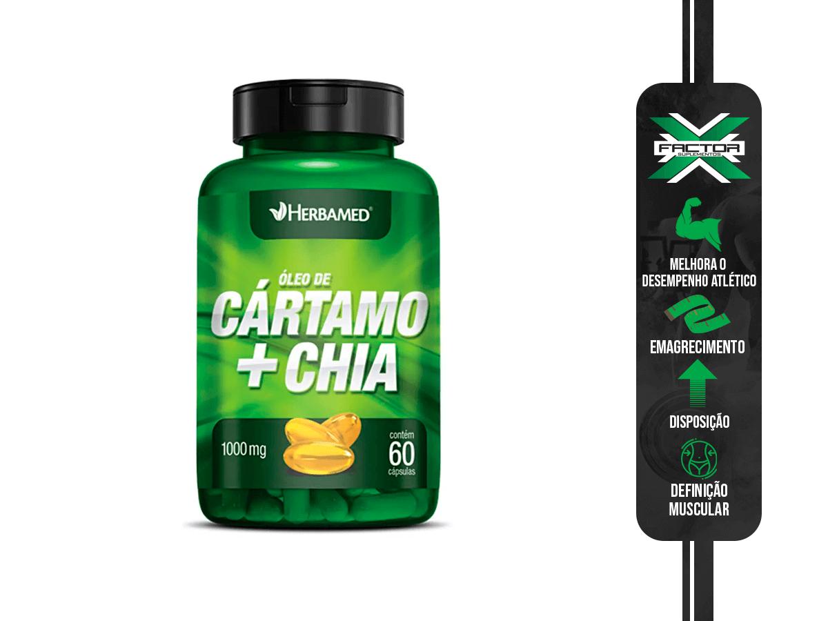 OLEO DE CARTAMO + CHIA 60CAPS 1000MG HERBAMED