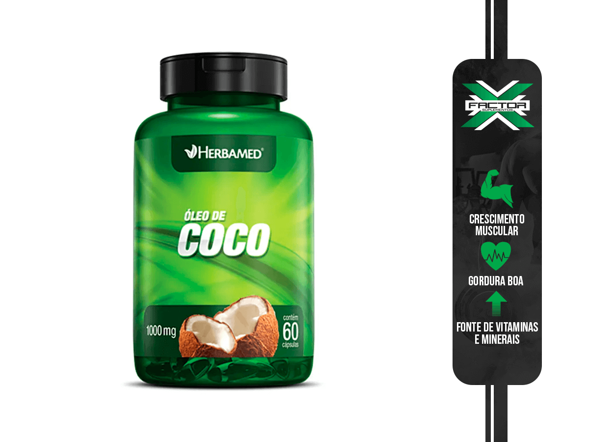 OLEO DE COCO 60CAPS 1000MG HERBAMED
