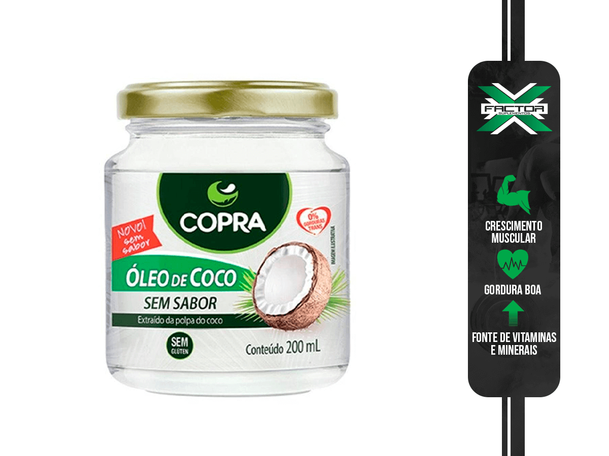 OLEO DE COCO SEM SABOR VIRGEM 200ML COPRA
