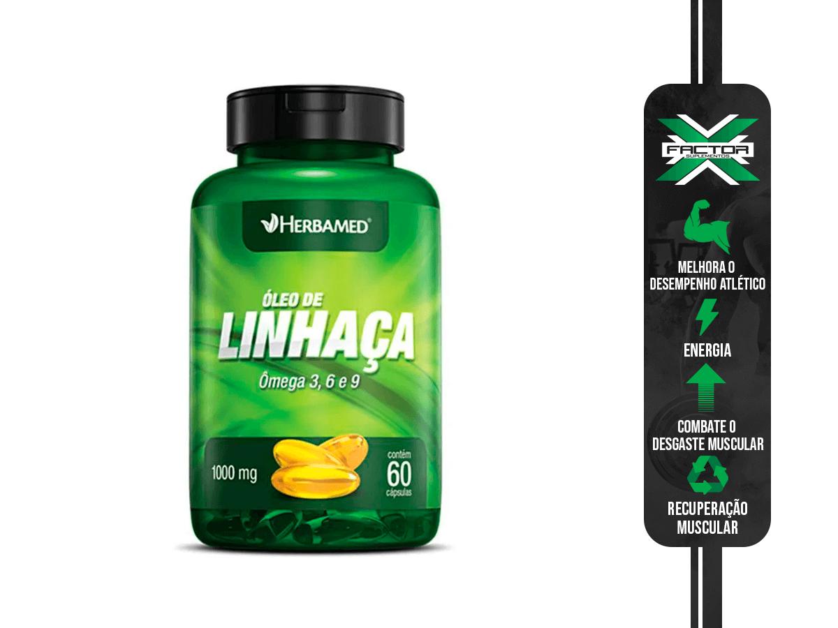 OLEO DE LINHAÇA 60 CAPS 1000MG HERBAMED