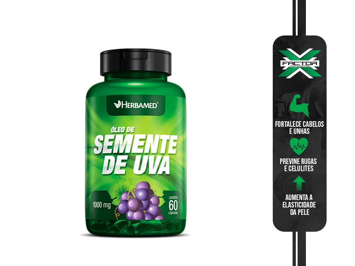 OLEO DE SEMENTE DE UVA 60CAPS/1000MG HERBAMED