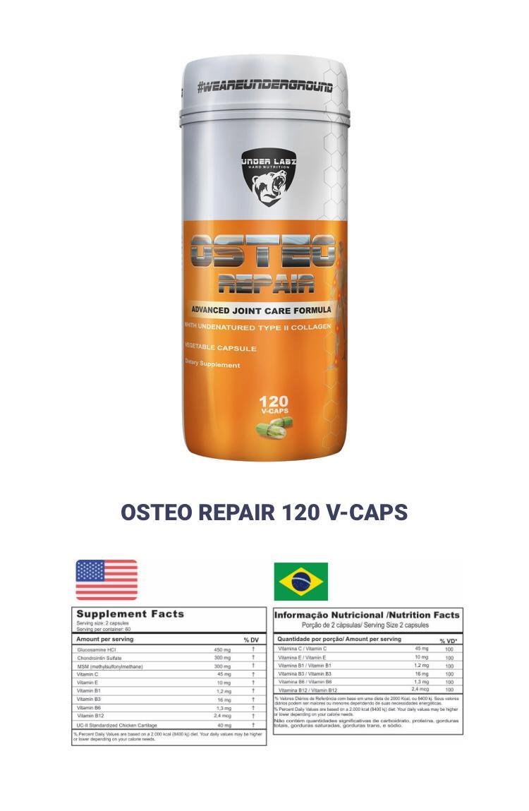 OSTEO REPAIR 120 CAPSULAS - UNDER LABZ