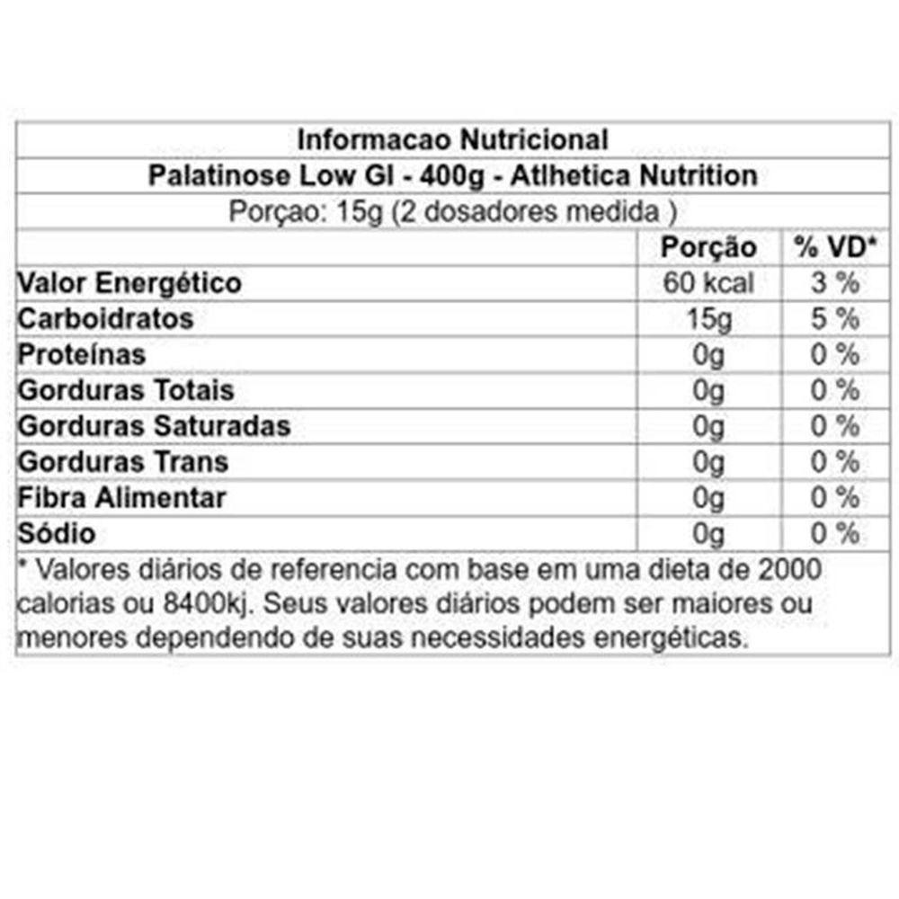 PALATINOSE LOW GI 400G ATLHETICA NUTRITION