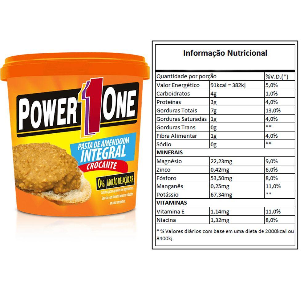 PASTA DE AMENDOIM (1,005kg) GRANULADA POWER 1 ONE