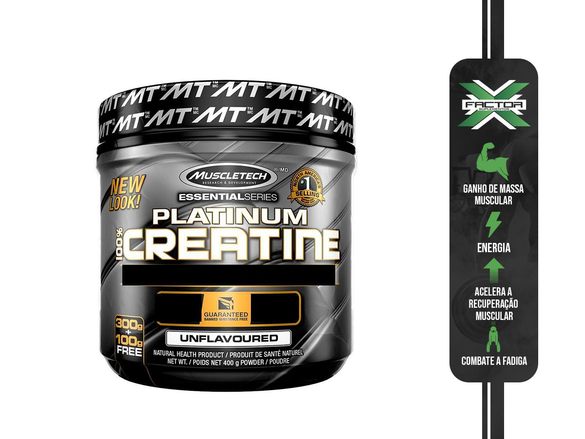 PLATINUM 100% CREATINE MICRONIZED (400G) MUSCLETECH