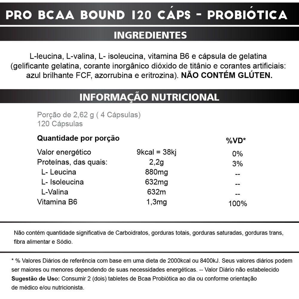PRO BCAA BOUND POTE 120CAPS - PROBIOTICA