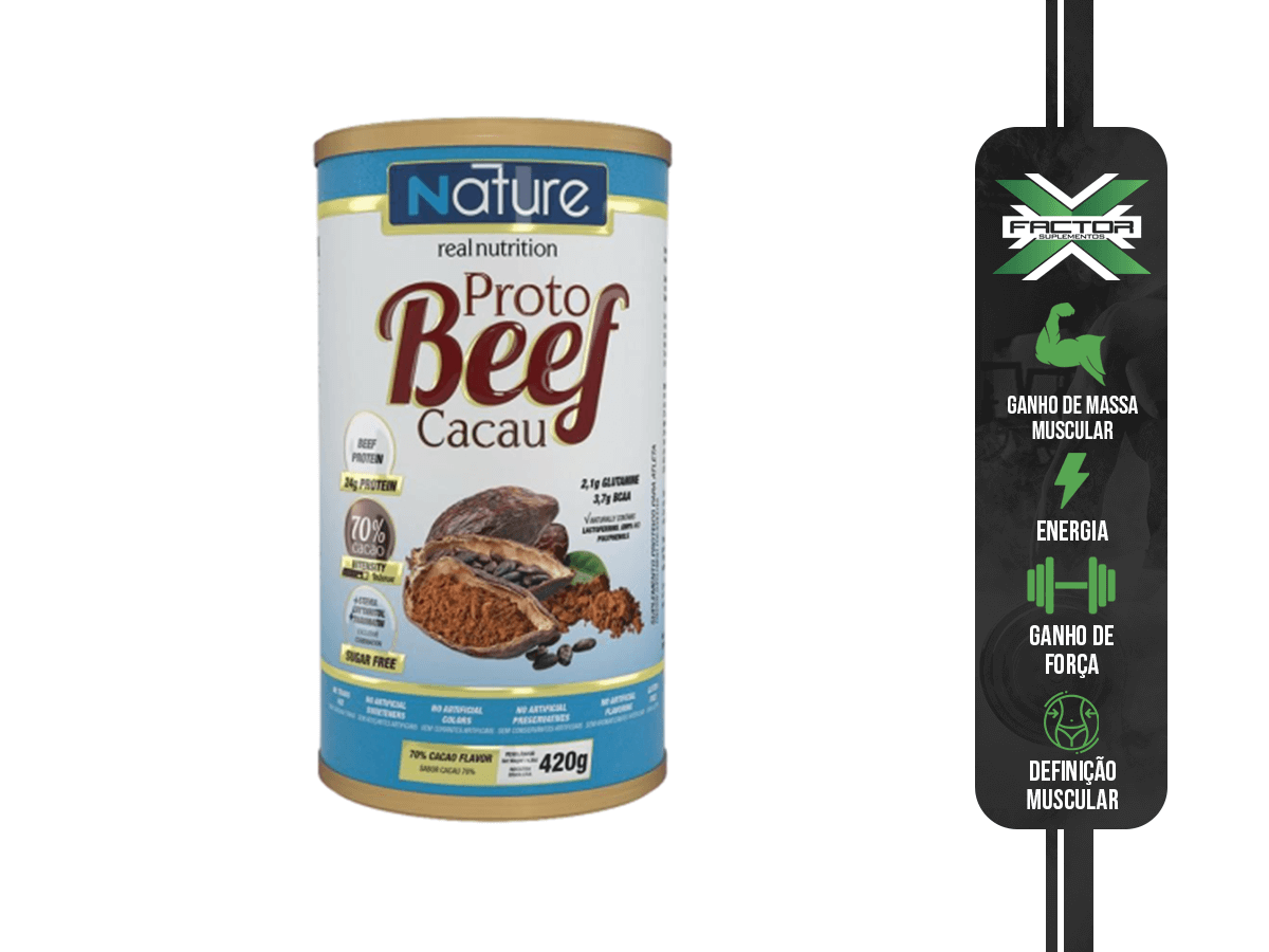 PROTO BEEF CACAU 70% 420G - NUTRATA