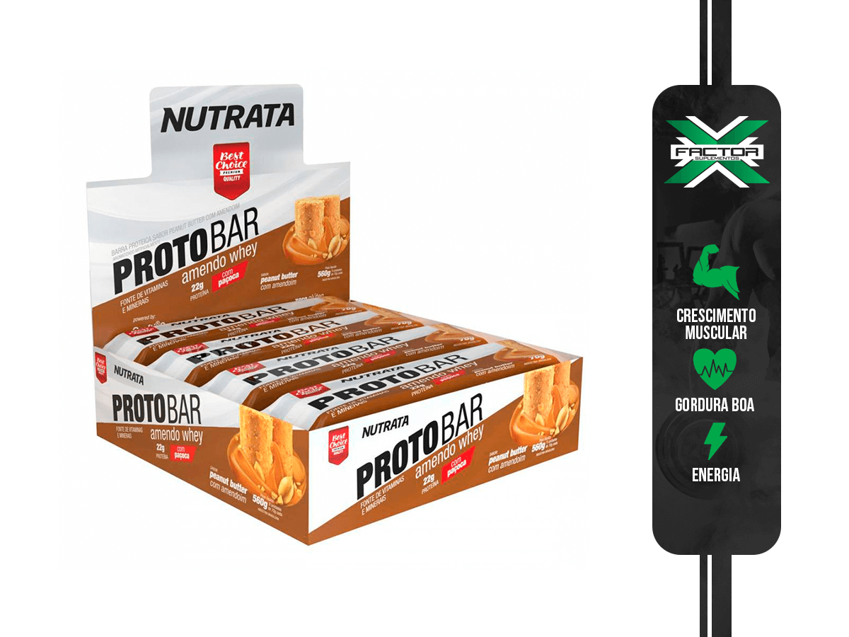 PROTOBAR (DISPLAY C/ 8 BARRAS 70G) NUTRATA