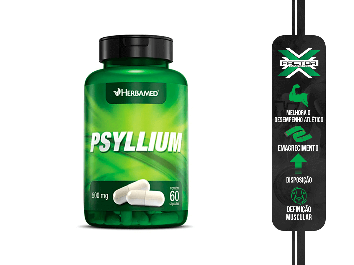 PSYLLIUM 60CAPS 500MG HERBAMED