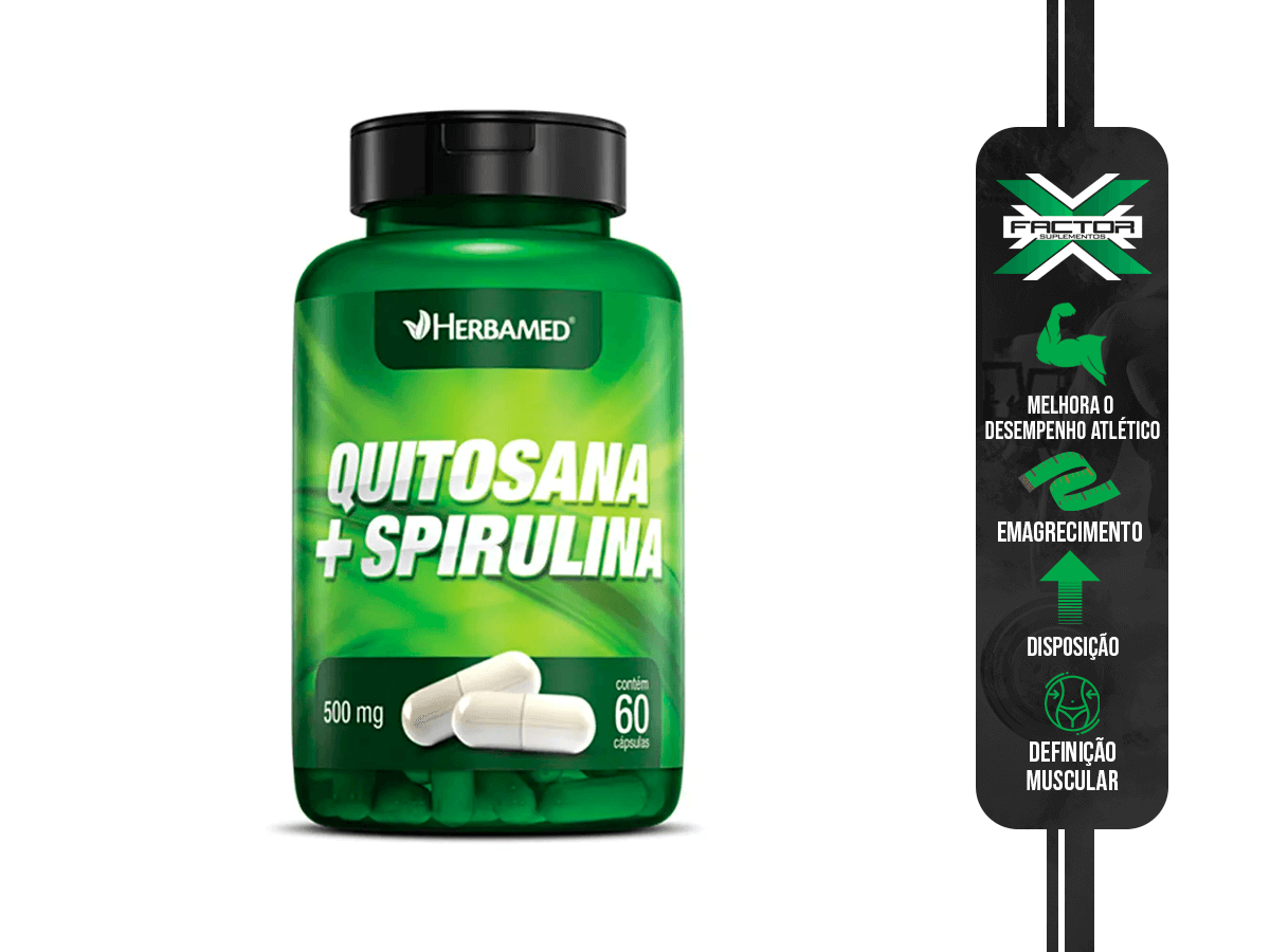 QUITOSANA + SPIRULINA 60CAPS 500MG HERBAMED
