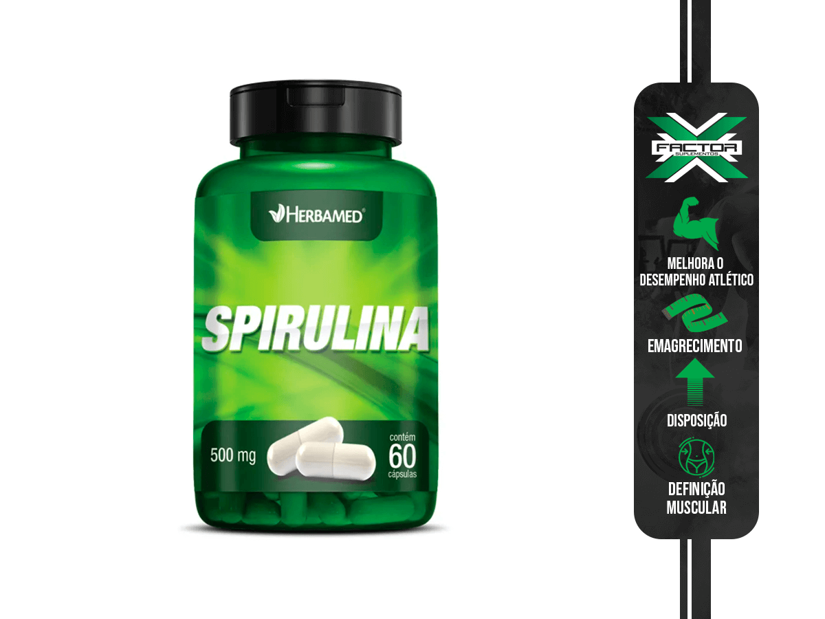 SPIRULINA 60CAPS 500MG HERBAMED