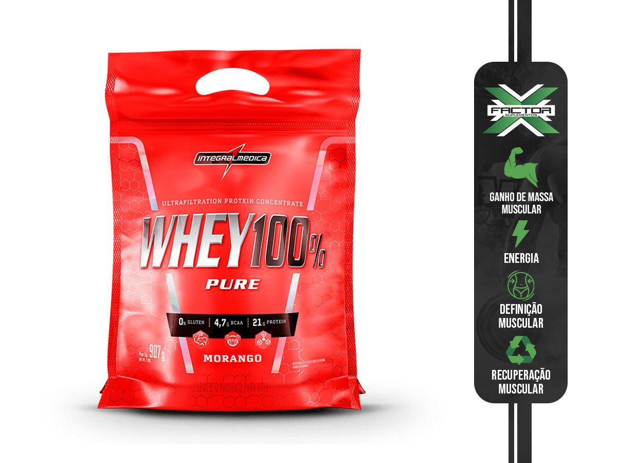 SUPER WHEY 100% PURE (REFIL-907G) INTEGRALMEDICA