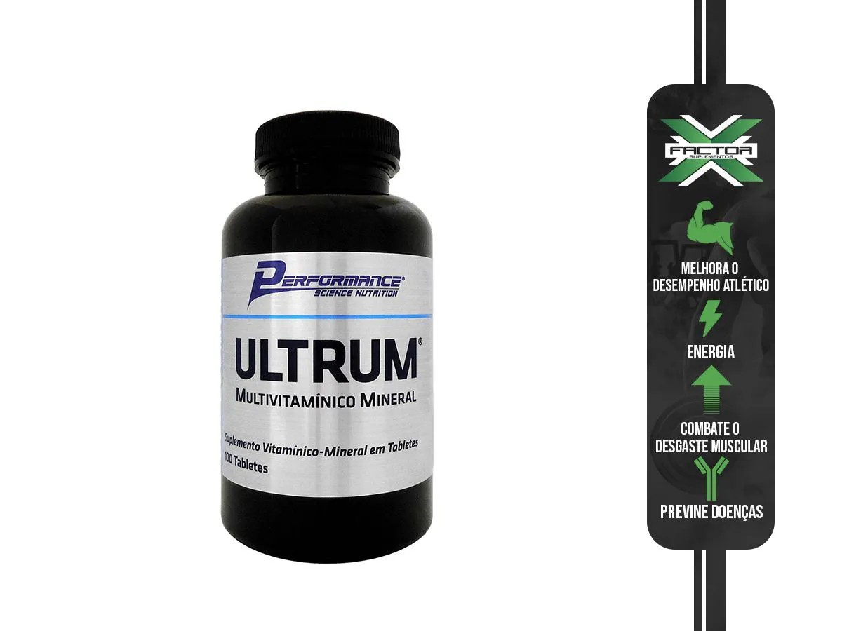 ULTRUM MULTIVITAMÍNICO - 100 TABS - PERFORMANCE NUTRITION
