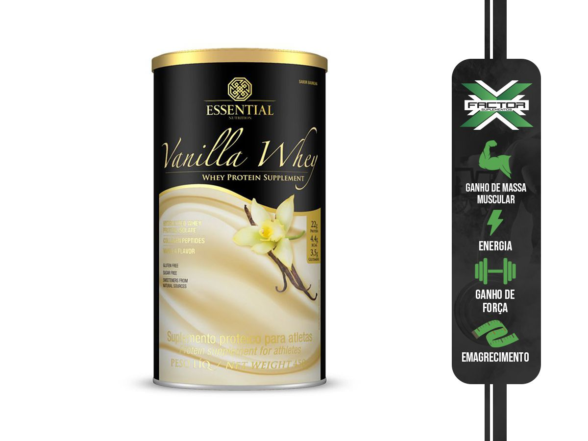 VANILLA WHEY (450G) ESSENTIAL NUTRITION