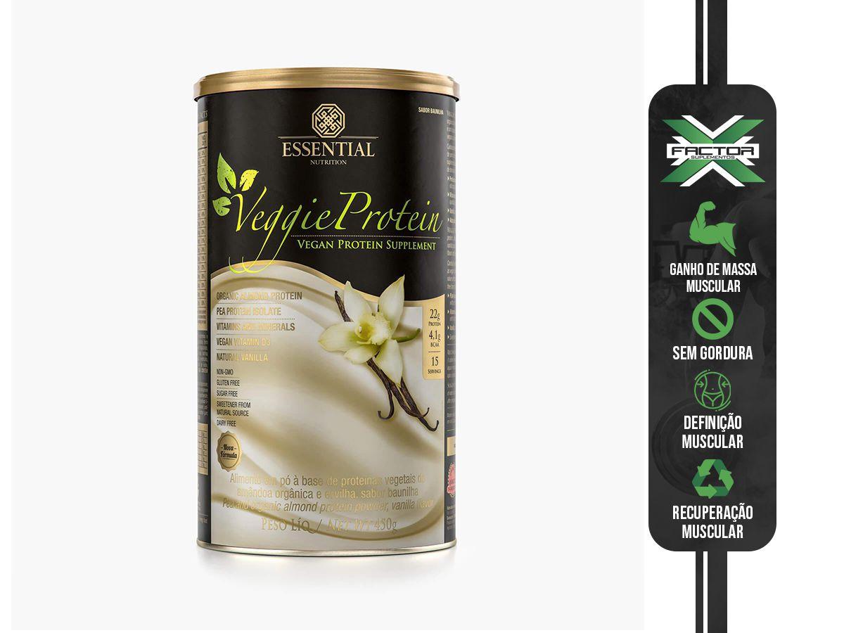 VEGGIE PROTEIN VANILLA (450G) ESSENTIAL NUTRITION