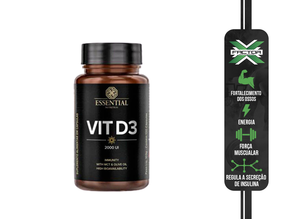 VIT D3 2000UI 120CAPS - ESSENTIAL NUTRITION