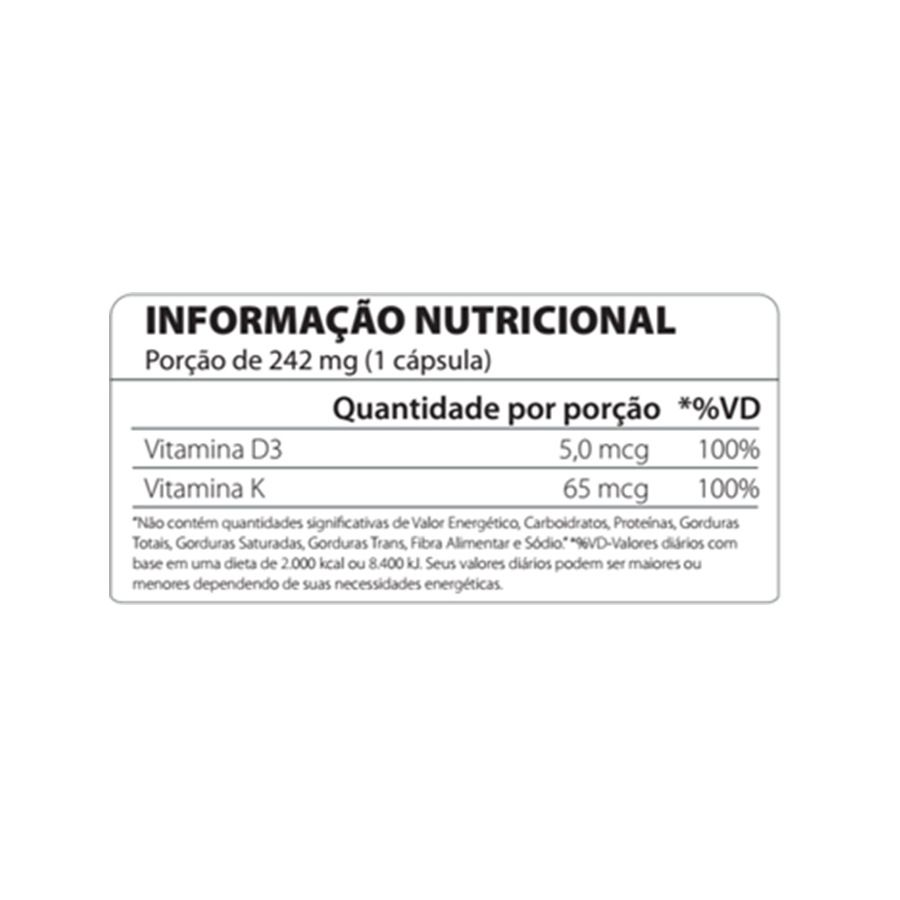 VITAMIN D3+K2 - 60 CAPS - ATLHETICA NUTRITION