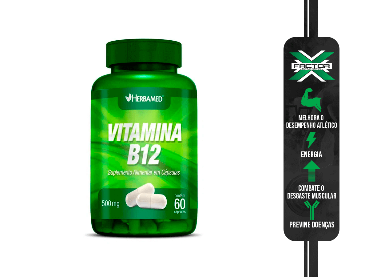 VITAMINA B12 60CAPS 500MG HERBAMED