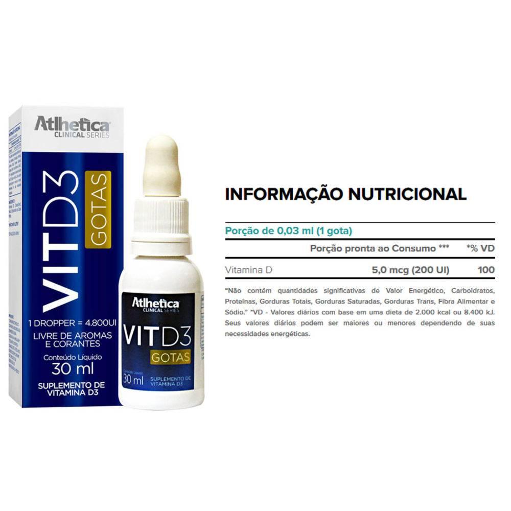 VITAMINA D3 (30ML) ATLHETICA NUTRITION
