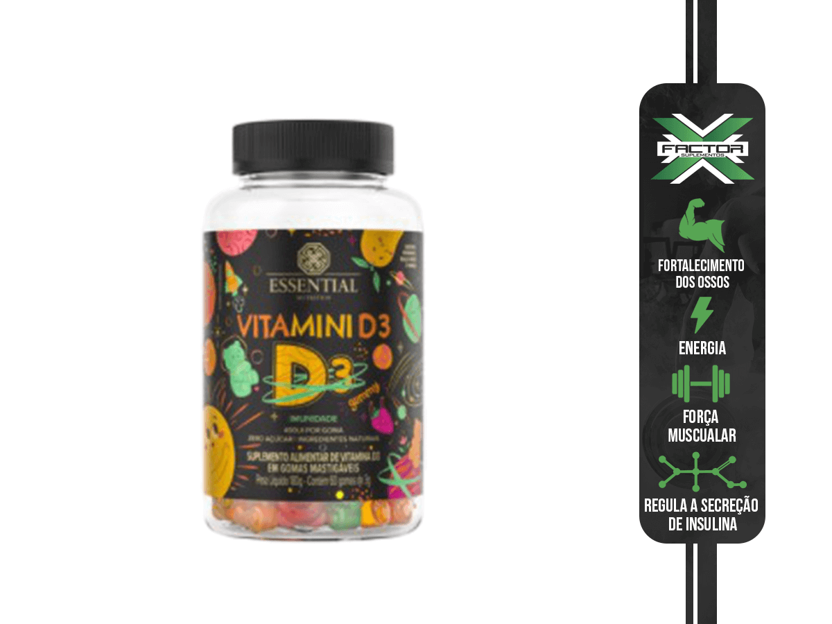 VITAMINI D 180G/60UN - ESSENTIAL NUTRITION