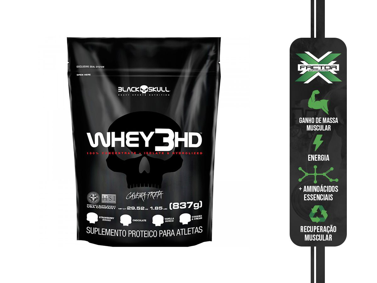 WHEY 3 HD REFIL (837G) - BLACK SKULL