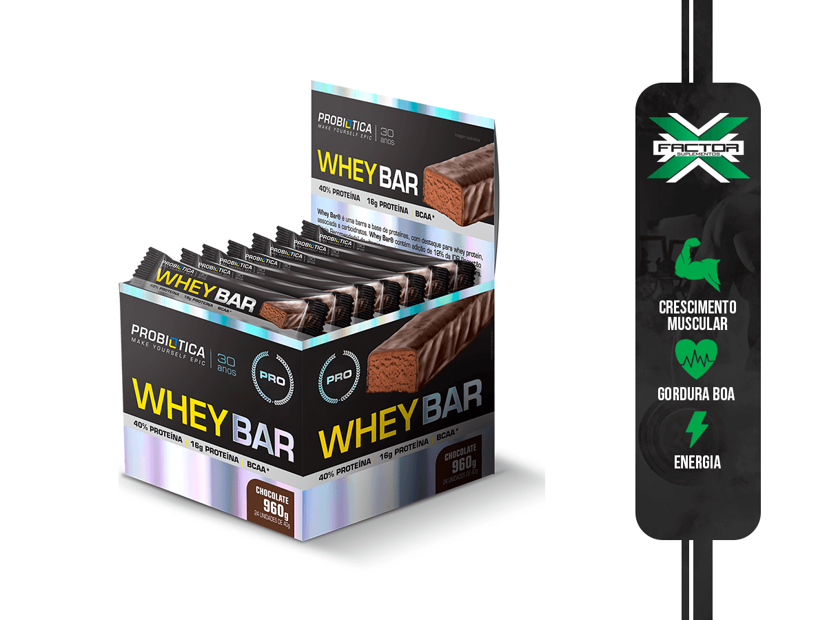 WHEY BAR (DISPLAY COM 24 UN) - PROBIOTICA