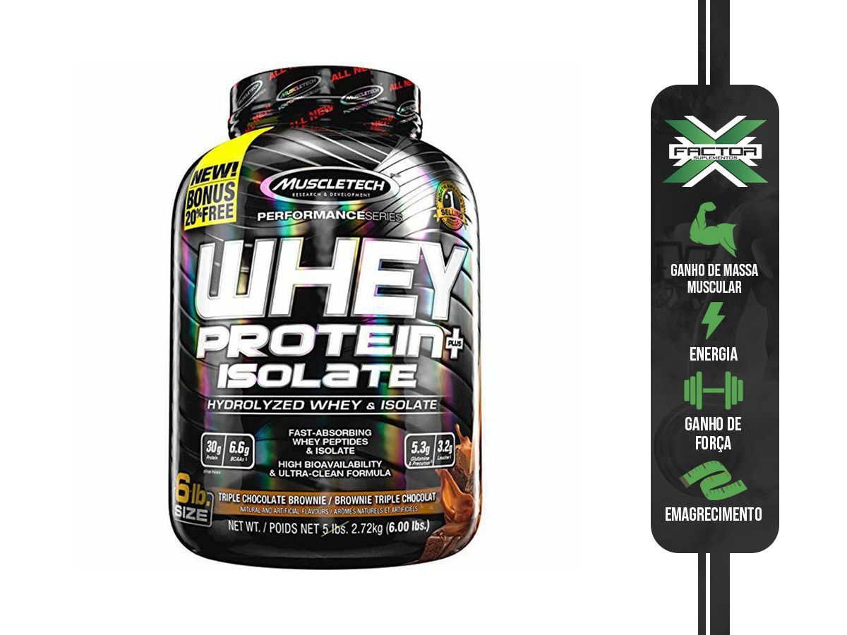 WHEY PROTEIN PLUS ISOLATE (2720G) - MUSCLETECH