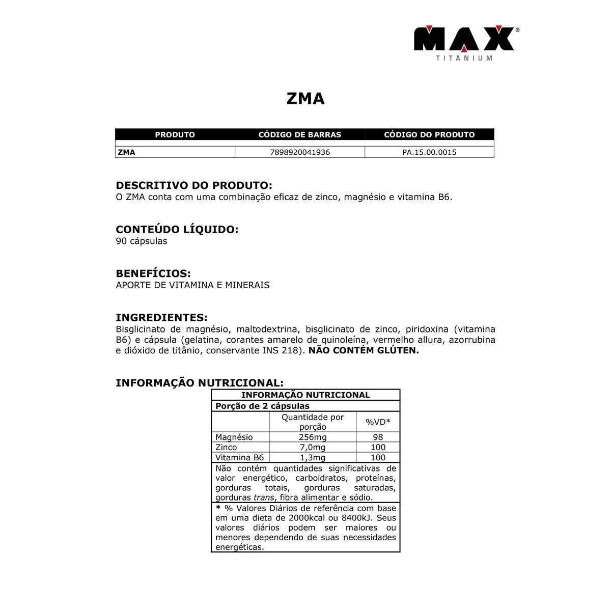 ZMA (90CAPS) MAX TITANIUM