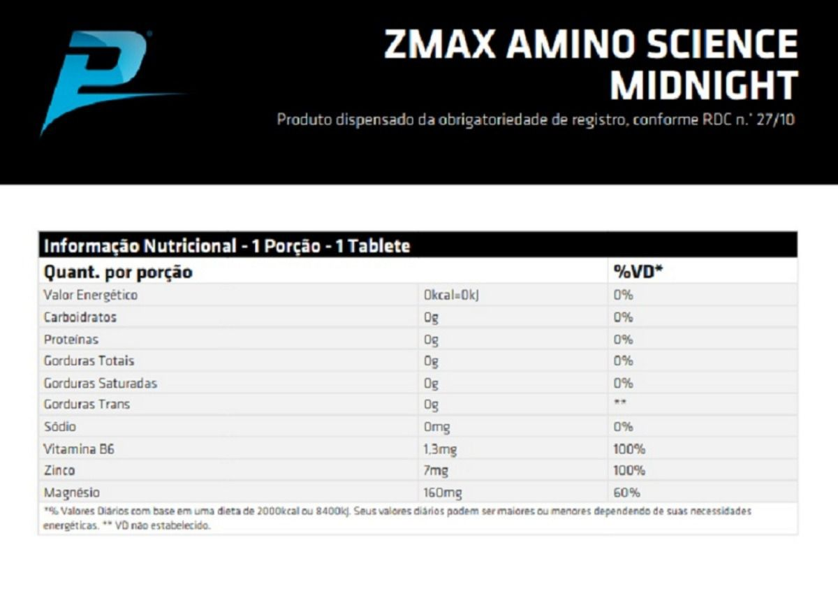ZMAX MIDNIGHT (PERFORMANCE NUTRITION) - 100 TABLETES