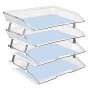 Caixa para correspondencia Acrimet 256.3 quadrupla quatro andares facility lateral  cristal
