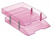 Caixa para correspondencia Acrimet 243 8 dupla articulada cor rosa claro