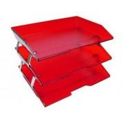 Caixa para correspondencia Acrimet 255 7 tripla faciliti lateral vermelho clear