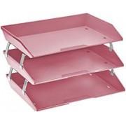 Caixa para correspondencia Acrimet 255 RO tripla faciliti lateral rosa solido