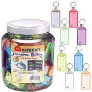Chaveiro Acrimet 144 0 com etiqueta de identificação pote com 120 chaveiros sortidos