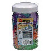 Chaveiro Acrimet 142.1 com etiqueta de identificação caixa com 4 potes pote com 60 chaveiros cores sortidas ou uma so cor  total de 240 chaveiros