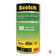 Fita Adesiva para Empacotamento Scotch 3M (45 mm x 45 m) Transparente pacote com 4 un