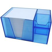Organizador de mesa azul clear c/papel branco 954 2  Acrimet