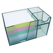 Organizador de mesa c/papel cores cor fume 956.1